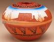 "American Indian Navajo Pottery Vase 3""  -Hand Etched  (p234)"