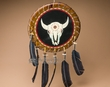 "American Indian Navajo Rawhide Shield 14"" -Skull  (26)"