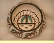 "American Indian Pottery Bowl -Hopi Sun 7""x3"" (w)"