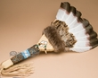 "American Indian Pow Wow Dance Fan 23"" -Creek  (f82)"