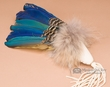 "American Indian Macaw Smudging Fan 10"" -Sioux  (f19)"