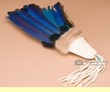 """American Indian Macaw Smudging Fan 10"""" -Sioux  (f19)"""