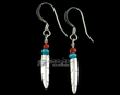 American Indian Sterling Silver Earrings -Feaathers  (81)