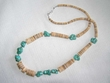 """American Indian Turquoise Necklace - 25"""""""