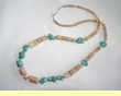 American Indian Turquoise Necklace - 25""