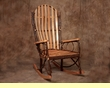 Amish Wide Back Bent Wood Oak & Hickory Rocking Chair