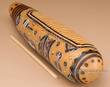 "Andean Indian Carved Gourd Rain Stick 14""   (2)"