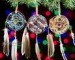 Navajo Painted Shield Christmas Ornament -3 Set  (o12)