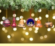 Andean Indian Gourd Christmas Ornament Set  (o55)