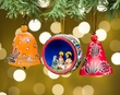 Andean Indian Gourd Christmas Ornament Set of 3  (o51)