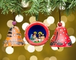 Andean Indian Gourd Christmas Ornaments 3 pc.  (o52)