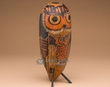 "Andean Indian Hand Carved Gourd Southwest Owl 9.5""  (1a)"