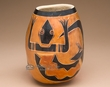 "Andean Indian Hand Carved Gourd Vase 5.75"" -Lizard (2)"