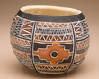 Andean Indian Hand Carved Gourd Vase -Geo (4)