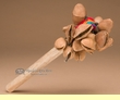 """Andean Indian Seed Pod Rattle 8""""  (129)"""