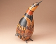 "Andean Indian Hand Carved Gourd Southwest Bird 12""  (b2)"