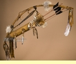 "Antiqued Native American Bow & Coyote Face Quiver 44"" (B45)"