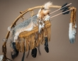 "Antiqued Navajo Bow & Arrow Quiver 42"" -Grey Fox (48)"