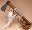 "Antiqued Old Style Navajo Beaded Tomahawk 16""  (t97)"