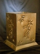 "Antiqued Punched Tin Luminaria 4""x6"" -Kokopelli"
