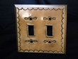 Antiqued Punched Tin Switch Cover -Double