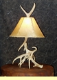 Antler Lamps Sconces & Chandeliers with Rawhide Lamp Shades