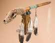 "Apache Indian Spirit Medicine Rattle 26"" -Coyote  (r119)"
