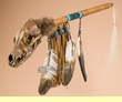 "Apache Indian Spirit Medicine Rattle 27.5"" -Coyote  (r119)"