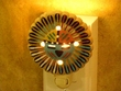 Apache Native American Pottery Night Light -Sun Face  (1)