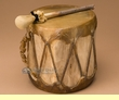 "Aspen Rawhide Laced Drumming Circle Drum 7.5""x6.5""  (13)"