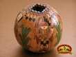 "Authentic Hand Tooled Navajo Pottery Vase 3.5"" (T32)"