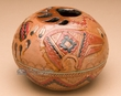 "Authentic Hand Tooled Navajo Pottery Vase 5x3.75"" (wv)"