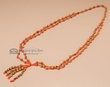 "Authentic Navajo Ghost Bead Necklace 28"" -Orange  (n181)"