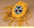 "Beaded Deer Skin Indian Medicine Bag 4.5"" -Pueblo  (301)"