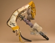 "Beaded Indian Jaw Bone Tomahawk 18""  -Eagle  (t4)"