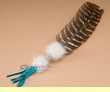 "Beaded Indian Smudging Feather 13"" -Cherokee  (17)"