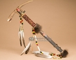 "Beaded Native American Antler Tomahawk 20"" -Creek   (21)"
