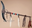 "Beaded Native American Horn Staff 33"" -Tigua Indian  (s92)"