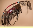 "Beaded Pueblo Indian Bow & Quiver Set 42"" -Tigua  (ba89)"