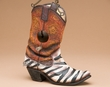 Rustic Western Bird House -Cowboy Boot  (bh5)