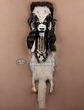 Black Feet Warrior Headdress Wall Hanging -Arctic Fox (m3)