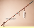 "Buckskin Beaded Old Style Indian Spear 54"" -Tigua  (L22)"