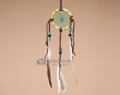 "Buffalo Bone Navajo Dream Catcher 2.5""  (dc25-5)"