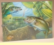 Cabin Decor Fishing Cutting Board 12x16 -Bass