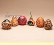 Carved Gourd Southwest Christmas Ornament Set   (4)