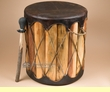 "Tarahumara Indian Cedar Drum Table 16""x18"""