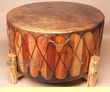Cedar Pow Wow Drum & Base 36x18 -Damage Clearance
