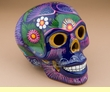 "Ceramic Day Of The Dead Skull 6.5"" -  (s8)"