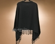 Classic Knitted Alpaca Poncho -Black  (p28)