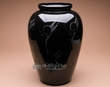 "Classic Navajo Black On Black Pottery Vase 16.75""  (p359)"